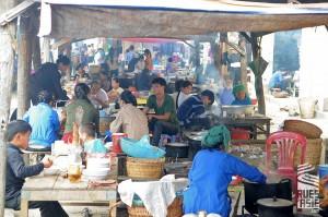 Marché ethnique- voyage moto vietnam