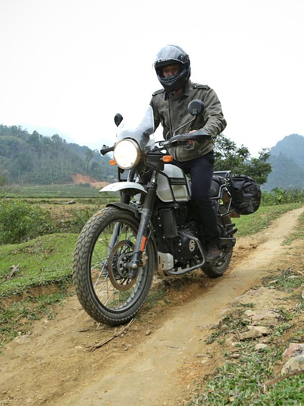 piste à moto dans la réserve de Ngoc Son Ngoc Luong au Vietnam